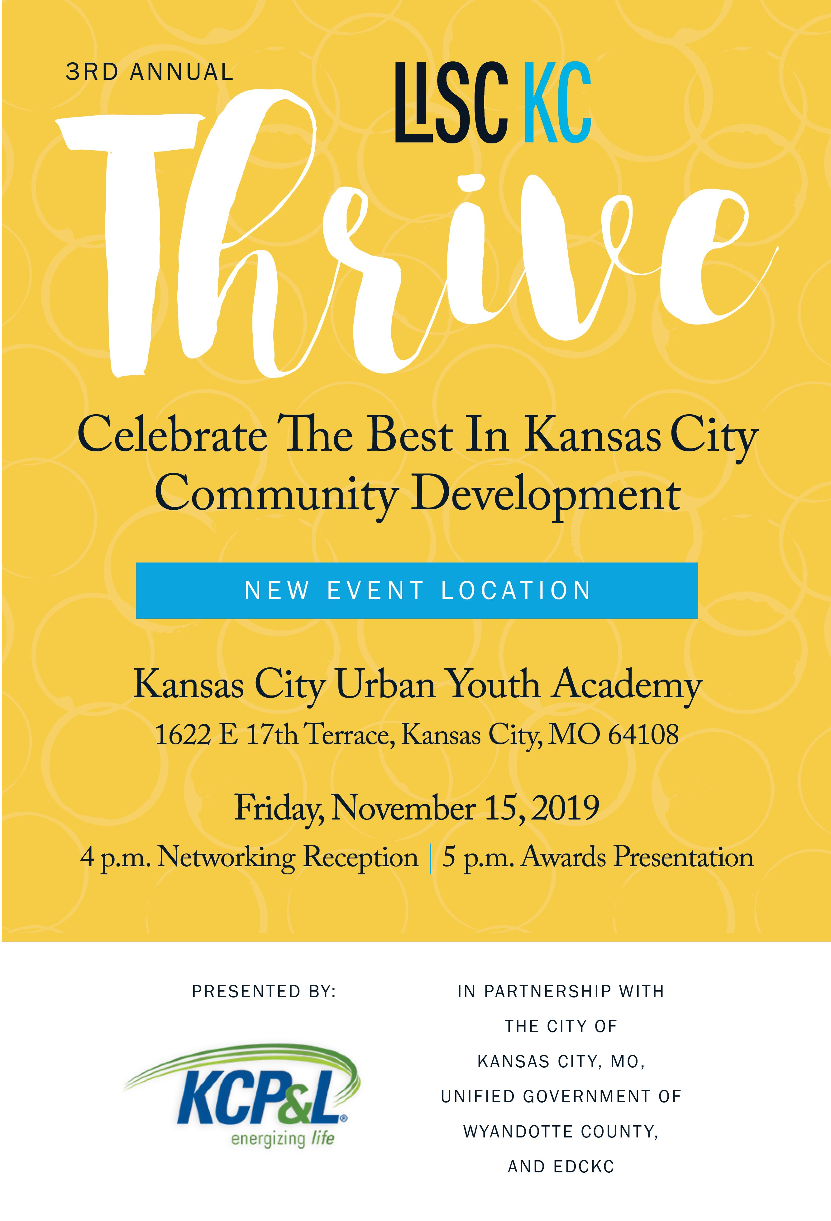 3rd Annual Thrive | LISC Kansas City