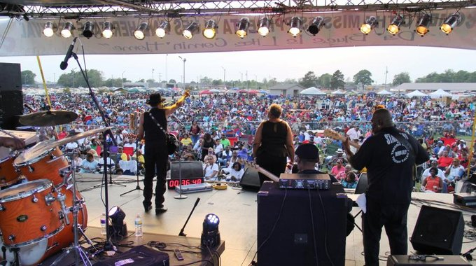 The crowd at a recent Delta Blues and Heritage Festival, which MACE founded 40 years ago to preserve and share the region's music and culture.
