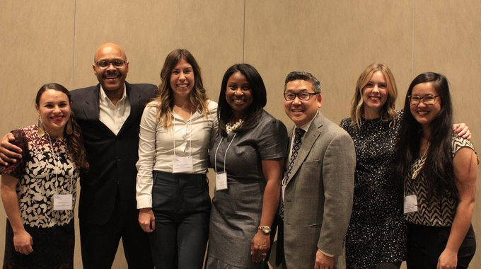 LA LISC Staff with LISC President and CEO, Maurice Jones, and Western Region Program Vice President, Joe Horiye