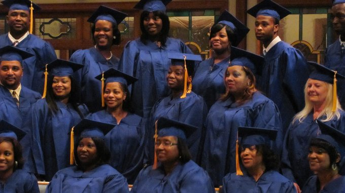 A graduating class in the workforce development program at NOVA Workforce Institute of Northeast Louisiana.