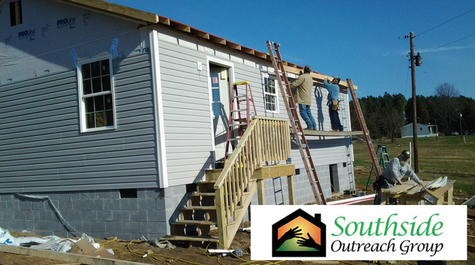 Southside Outreach Group's Minor Housing Rehabilitation program at work in Cumberland County, Va.