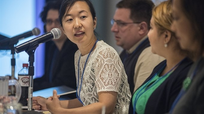The head of LISC's network of financial opportunity centers, Seung Kim (pictured above), connected NPR producers with Brandi Drew. NPR's story features the success Drew found as a client at the Southwest Economic Solutions FOC in Detroit.