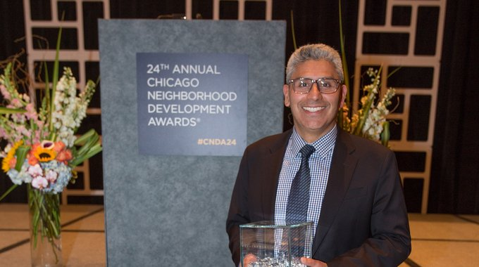 The Richard M. Daley Friend of the Neighborhoods Award Presented to: Juan Salgado, City Colleges Chancellor