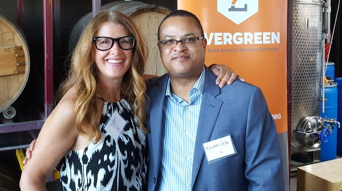 Leah Archibald, CEO of Evergreen, with Evergreen board member, Winston White.