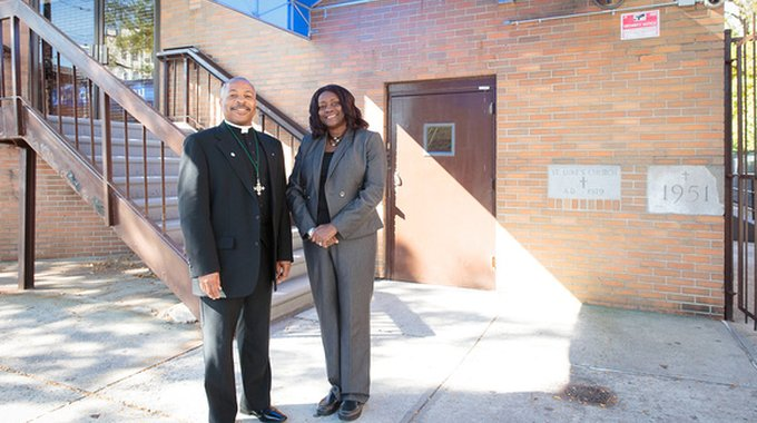 Father Pierre-Andrew Duvert and Dr. Christine Greenidge are leading the efforts of St. Luke's Episcopal Church in the Bronx to develop housing, food programs and a health clinic on church land.