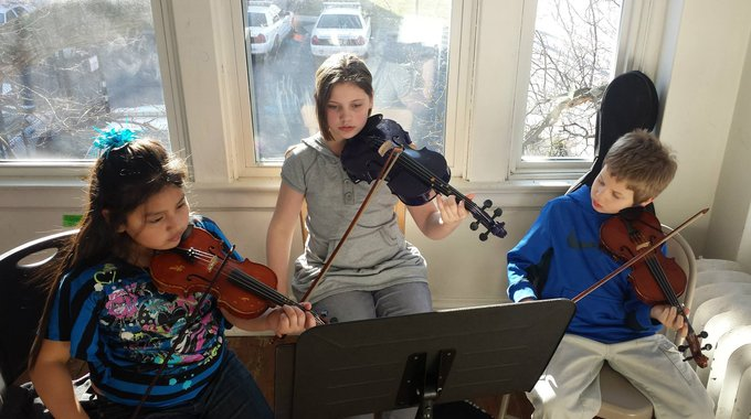 Students in the MYCincinnati youth orchestra receive 10 hours of weekly instruction.