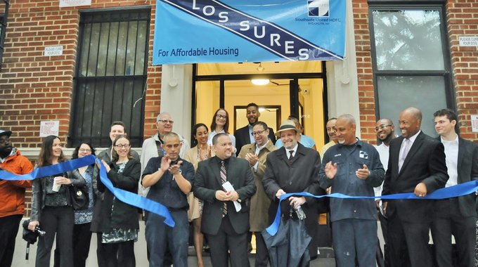 Los Sures, LISC NYC and development partners celebrate the preservation of affordability at 101 South 3rd Street in Williamsburg, Brooklyn.