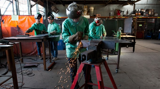 A Weld to Work class at the Steel Yard.