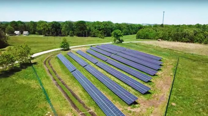 A four-acre solar panel field, combined with energy-smart engineering, has gotten Perry Point to net-zero efficiency.
