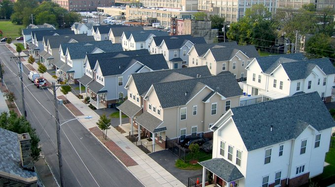Part of the Pradera Homes, a signature APM housing development built with LISC support that has transformed the landscape of Philly's Eastern North neighborhood (LISC archives).