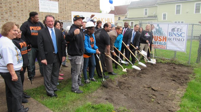 Partners broke ground at the School 77 project in May 2017