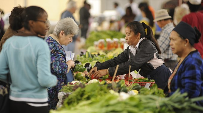 Shoppers pick healthy and locally-grown foods at Fondy Food Center in Milwaukee