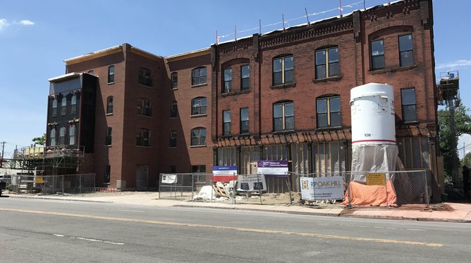 Construction is in progress on HELP Buffalo II, located next to the original HELP Buffalo affordable housing project on Broadway and Hickory Street.