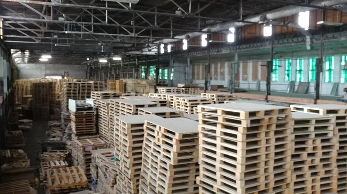 (Inside of the J&G Pallets Warehouse)