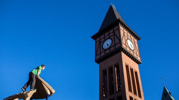 Covington's iconic Carroll Chimes Clock Tower features a working carillon and a mechanical puppet show that play on the hour. It is one of many reminders of the city's industrial heyday. Creative placemaking constantly draws on local history and culture to celebrate and commemorate the identity of a community.