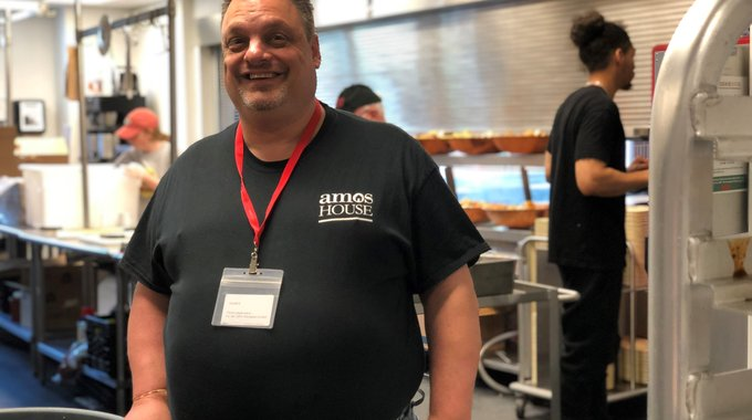 """Whenever I go out, whoever I talk to, my goal is to uncover opportunities [for graduates],"" says Nick DeCamp, a professional chef and instructor at Amos House."