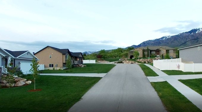 A completed neighborhood from Neighborhood Housing Solutions.