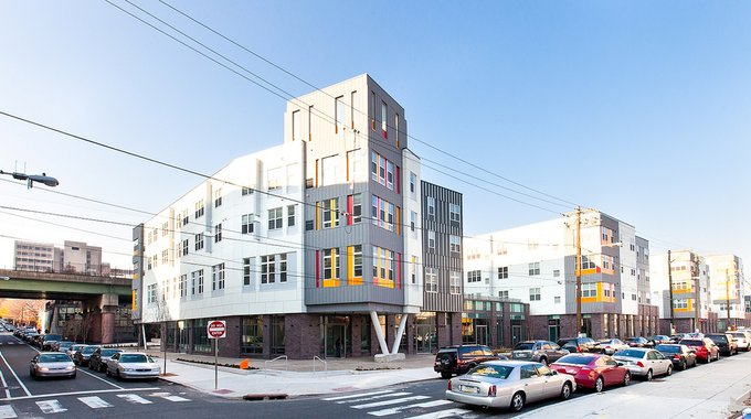 "Paseo Verde in Philadelphia is a mixed-use, mixed-income ""green"" complex adjacent to mass transit."