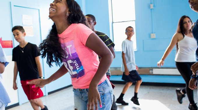 Latin dance class for children at Taller Puertorriqueño