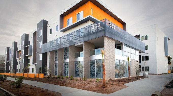 Cedar Crossing, an innovative NEF project in Phoenix, AZ, has 74 apartments for families earning at or below between 40-60 percent of AMI.
