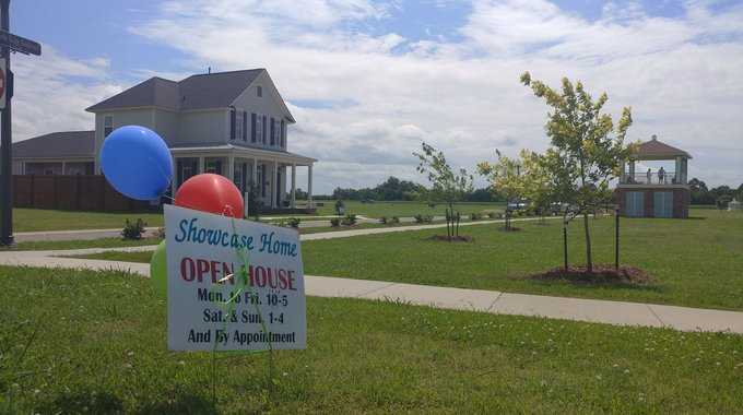Open house at Teche Ridge, a Traditional Neighborhood Development (TND) in Louisiana's rural Acadiana region.
