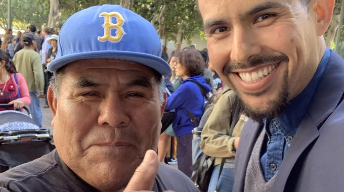 Celebrating the legalization of street vending last fall with Faustino Martínez, a vendor-leader who serves on the steering committee of the LA Street Vendor Campaign and makes his living selling bolis—ice pops—in South Los Angeles.